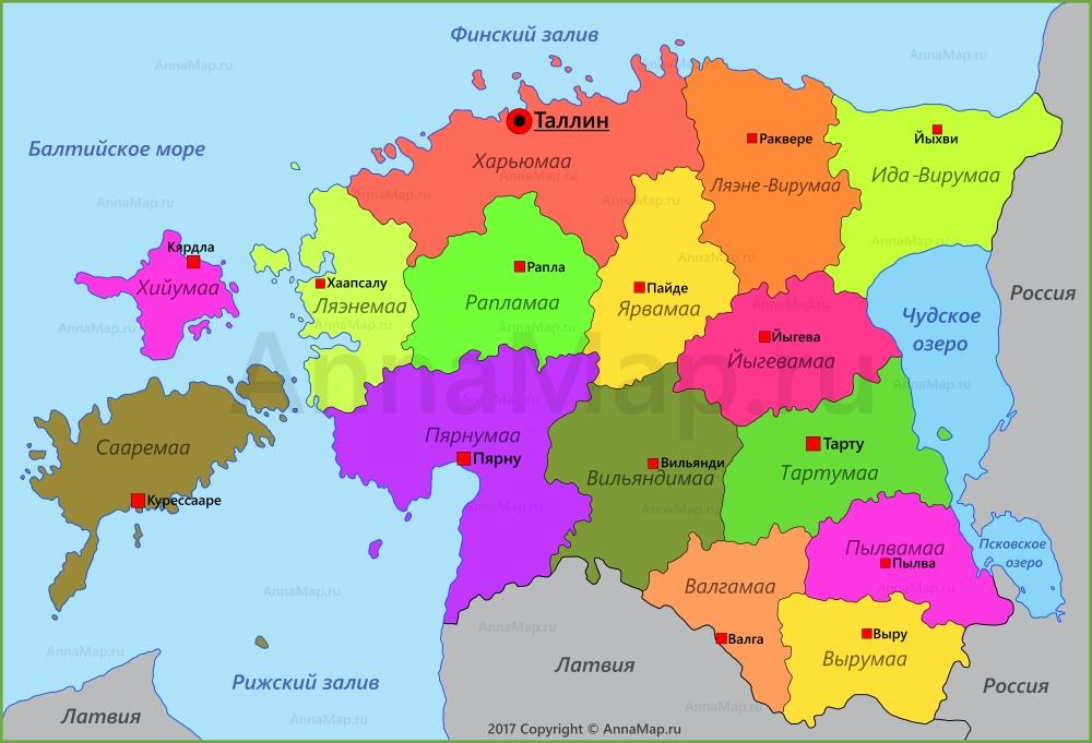Скачать Карта Эстонии На Русском Языке С Городами - фото 7