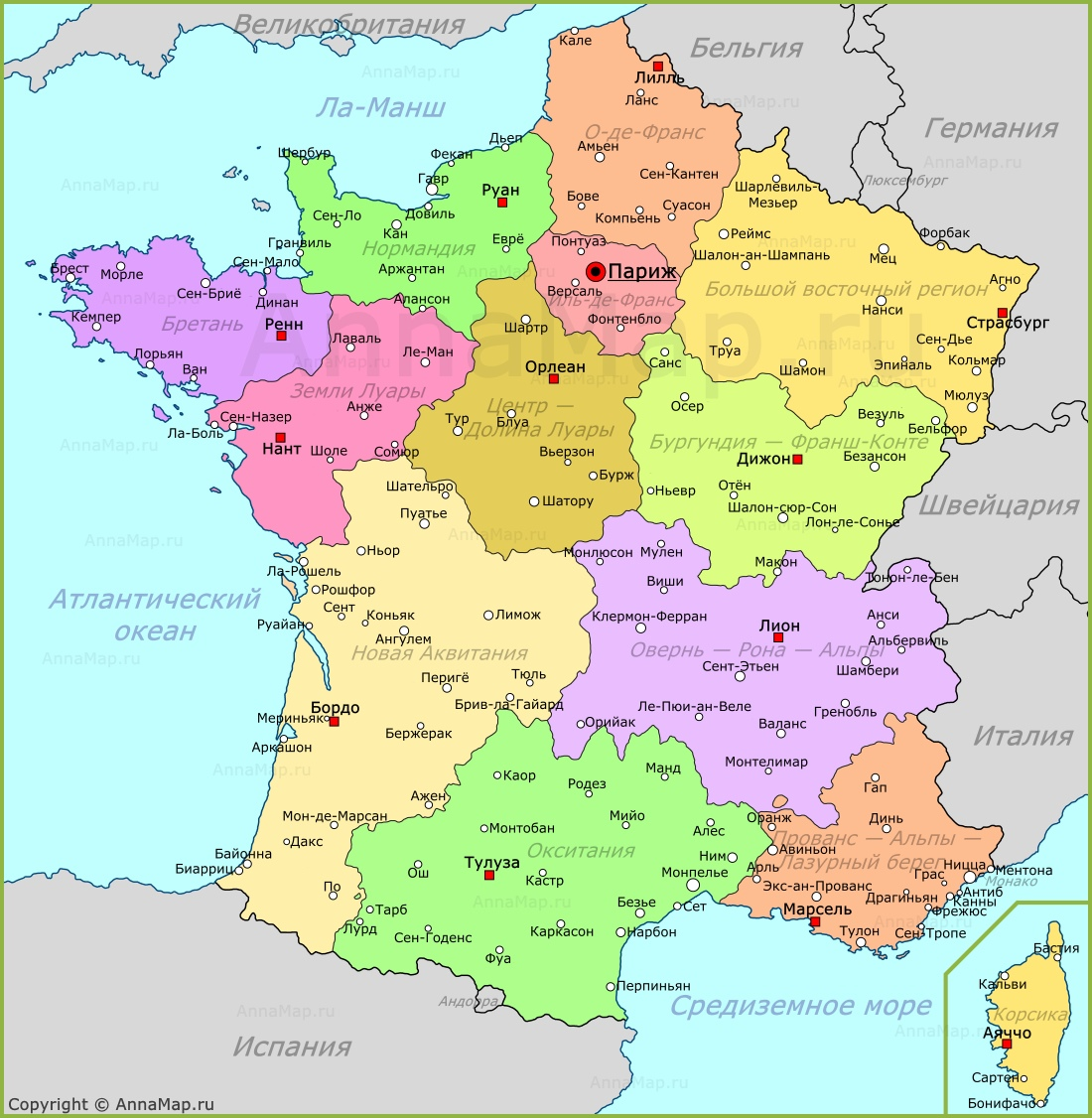 Karta Francii Na Russkom Yazyke Annamap Ru