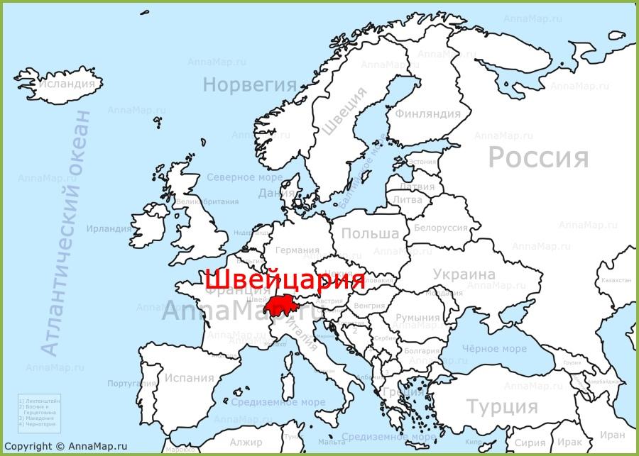Shvejcariya Na Karte Evropy Annamap Ru