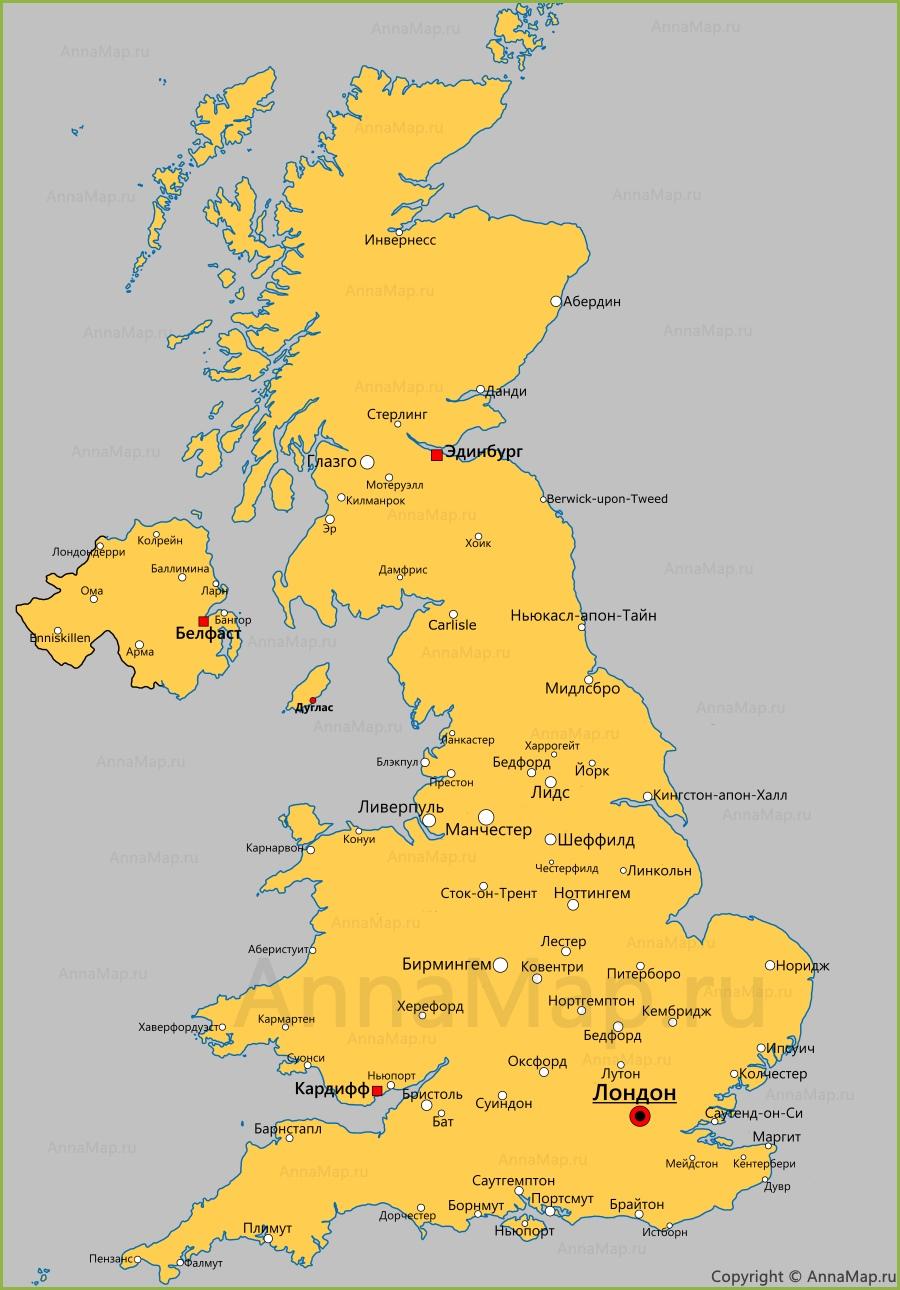 Ньюкасл на карте великобритании